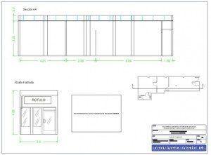 Plano alzado y sección licencia apertura