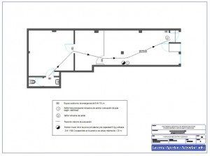 Plano instalaciones contra incendios licencia apertura